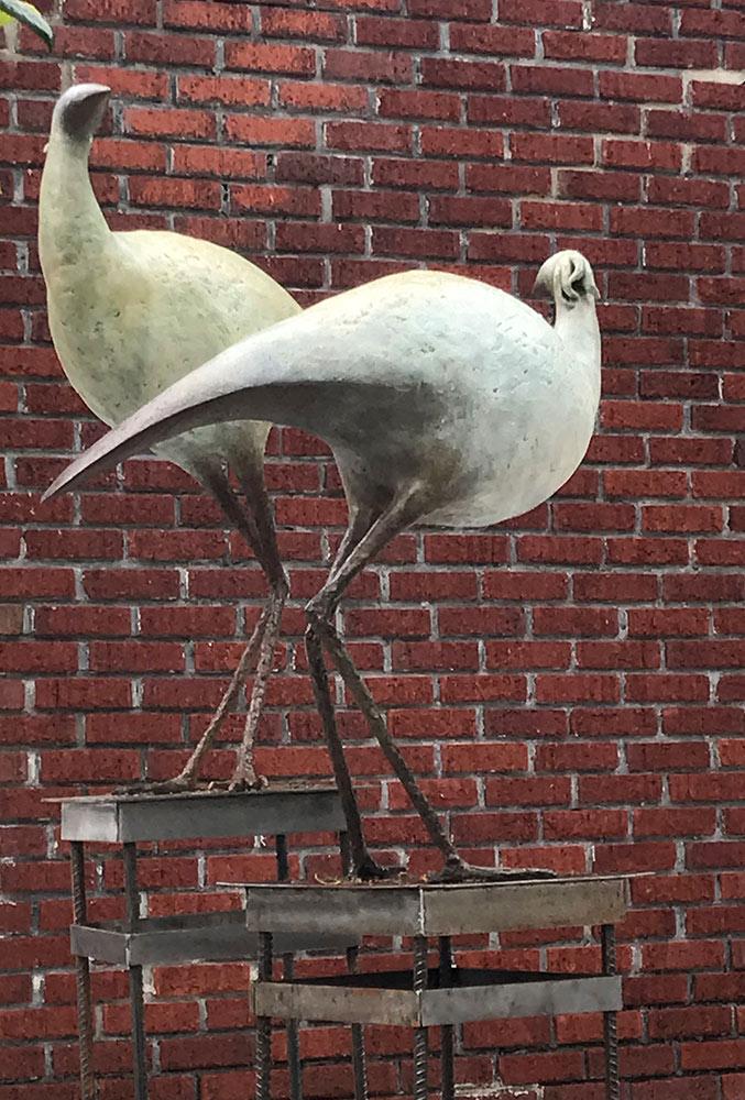 Large Wading Birds, 2017. Bronze, 36