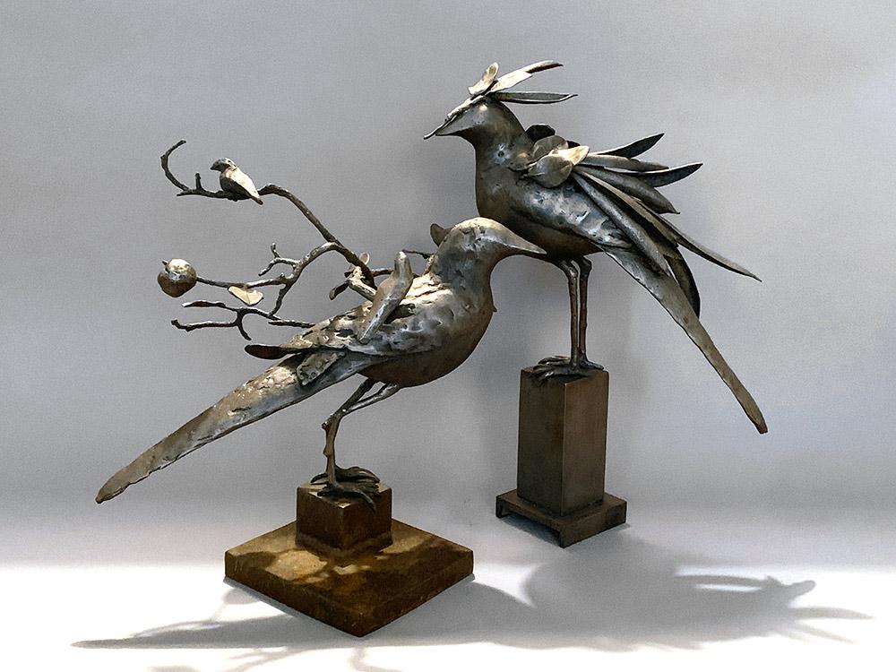 Incognito II & III, 2020. Unique. Bronze, 18