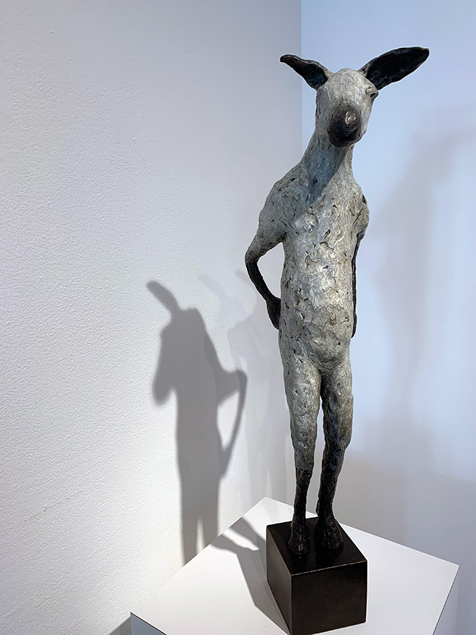 Burro, 2021. Limited edition. Bronze, 22h x 6w x 9d inches